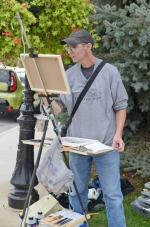 """Dennis Albertson, of Hamilton, does some """"Plein Air"""" painting at last year's Renaissance in Roanoke in downtown Roanoke. The event, featuring """"Plein Air"""" competitions, music, entertainment, food and children's activities, will be held Saturday, Oct. 13."""