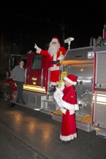 Santa and Mrs. Claus, shown arriving in Roanoke last December, will return on Friday, Dec. 6 to kick off the 2013 Christmas in the Village celebration.