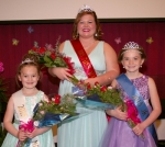 A trio of royalty poses for official pictures on Saturday, April 25, at the Warren Church of Christ. They are (from left to right) Hailey Pursifull, Little Miss Warren; Hayley Jo Haynes, Miss Warren; and Cambri Leas, Junior Miss Warren.