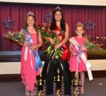 Winning crowns at the Salamonie Summer Festival pageant on Sunday, June 29, are (from left) Junior Miss Sierra Tolen, Queen Alysse Bustos and Princess Cambri Leas.
