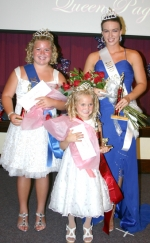 Three winners in the Salamonie Summer Festival Queen Pageant were crowned at the Warren Church of Christ on Monday, June 28. Pictured (from left) are Junior Miss Haley Haynes; Princess Ahlivia Calhoun; and Queen Alli Harris.