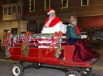 Santa Claus arrives in Warren for last year's Christmas festivities in a horse-drawn wagon driven by Jay Walters. A Santa-centered celebration will return to Warren Friday evening, Nov. 28.