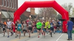 Runners head out from the start line of the eighth annual Discover Roanoke 10K/5K/1-Mile Run on Saturday, April 15, in downtown Roanoke.