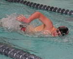 Huntington North senior Nathan Lundy strokes to victory in the 200-yard freestyle against visiting Marion on Tuesday, Jan. 27, at the Parkview Huntington Family YMCA.