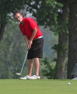 Huntington North golfer Zac Tackett competes Friday, June 5, in the Warsaw Boys' Golf Sectional Tournament at Rozella Ford Golf Club. Tackett, a graduating senior, shot a 78 to lead the Vikings to a sixth place finish as  team.