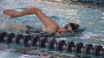 Alivia Eiting swims to a fourth-place finish in the 500-yard freestyle against Norwell on Tuesday, Jan. 17, in a meet at the Parkview Huntington Family YMCA.