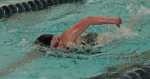 Huntington North senior Katie Schenkel strokes through the water on her way to victory in the 200-yard freestyle against visiting Fort Wayne Snider on Tuesday, Dec. 16, at the Parkview Huntington Family YMCA. Schenkel had two wins despite the Lady Vikings losing.