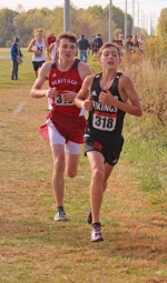 Huntington North sophomore Gavin Byerly competes at the Marion Boys Cross Country Regional on Saturday, Oct. 19, at the Indiana Wesleyan cross country course. Byerly and the Vikings grabbed the fifth and final advanacing spot to compete next week at the New Haven semi-state.