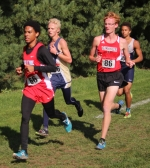 Huntington North senior Alexander Bishop runs with a small group during the Marion Boys' Cross Country Regional on Saturday, Oct. 13. Bishop was the sixth Viking runner on the day as HNHS qualified for the semi-state on Saturday, Oct. 20.