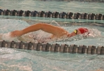 Allie Aschliman, a sophomore on the Huntington North High School girls' varsity swim team, competes in the 200-yard freestyle during a meet against visiting East Noble on Tuesday, Nov. 27. Aschliman clocked in at 2:14.79 to win the race. The Lady Vikings lost the meet, 106-64.