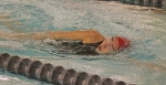 Anna Manry, a freshman on the Huntington North High School girls' swim team, competes in the 200-yard individual medley during a meet against visiting Blackford on Tuesday, Dec. 5. The Lady Vikings won big, 116-50.