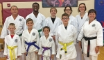 Members of Genbu-Kai Karate of Indiana celebrate winning the most representative school award in a recent tournament. Pictured are (front row, from left) Mason Payton, Jaiden Kirk, Lextin Keefer, Aiden Miller and Sensei Dawn Anderson; and (back row, from left) Andy Norman, Kevin McGregor, Nathan Mygrant, Gretchen Schaadt and Rachel McGregor.