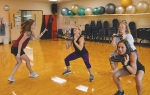 Parkview Huntington Family YMCA instructors work through the new GRIT Strength Class to be revealed at the Launch Party on Aug. 24.Pictured are (from left) Marisa Sunderman, Jody Alsman, Deja Marshall and Candy Evans.