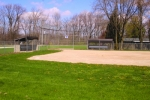 The front diamond at the Police Athletic League, in Huntington, sits empty on Thursday, April 16. The diamond will remain that way throughout the summer, as the PAL has canceled its baseball season due to the COVID-19 pandemic. Other local sports leagues have canceled their seasons as well.