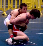 Huntington North High School wrestler Logan Randle (right) placed seventh out of 35 wrestlers in the 112-pound weight class in the National High School Coaches Association Senior Wrestling Tournament in Virginia Beach, VA, on March 26.