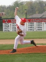 Huntington North High School pitcher Bill Ray lets one fly during action against Marion Tuesday, May 5.