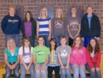 The Riverview Middle School eighth grade girls' track team won the county title on Tuesday, May 11, defeating Crestview and Salamonie.