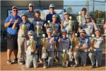 The Summit City Spartans, an 11U travel baseball team based in Fort Wayne, won the Noblesville Summer World Series on Sunday, July 12. In addition to Huntington native Austin Oswalt (second row, first from left), team members are (front row from left) Cade Cobler, Carson Nutter, Dylan Skaggs, Julian Osselaer, Nathan Anderson and (second row from left) Oswalt, Trey Firestone, Sam Gladd, Grady Swing, Isaac MacDonald and (back row from left) Coaches Chris Oswalt, Mike Nutter, Jeff Gladd and Chris Cobler.