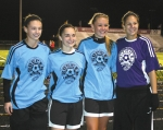 Members from the Huntington North High School girls' varsity soccer team competed for the Indiana Elite North soccer team as it played the South squad in games on Saturday, Nov. 9, at Danville High School.
