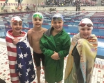 Pictured at the recent state championship swim meet are Indiana Stars Swim Club boys 8 & under 100 freestyle relay third place team of (from left) Dawson Husband, Cooper McQuiston, Isaac Kowalski and Micah Smith.