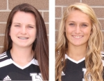 Hannah Tillett (left) and Karmen Koch were chosen to the all-state girls' soccer first and third team, respectively, by the Indiana Soccer Coaches Association.