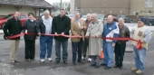 The city of Huntington held a ribbon cutting ceremony near the City Buhilding on Tuesday, Dec. 15, to mark the completion of its storm water separation project