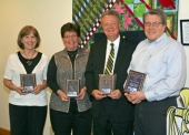 United Way Award winners gather at the United Way of Huntington's Thank You Celebration on Wednesday, April 10.