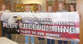 The Salamonie Summer Festival banner was taken to Heritage Pointe in Warren on Monday, June 1, to be signed by veterans.