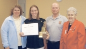 Alli Harris (second, from left) recently received the 2009 DAR Good Citizen Award, from the Samuel Huntington Chapter of the Daughters of the American Revolution.