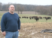 Huntington resident Blaine Kaylor is the owner of a small herd of bison. Kaylor says his interest in the animals grew after much research.