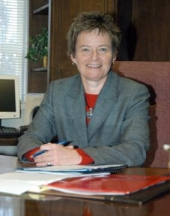 Ann McPherren, a Huntington University graduate and business professor, is serving as interim president of the university during the sabbatical of Dr. G. Blair Dowden.