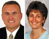 Pictured Ty Platt (left) and Lori Culler
