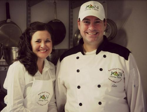 Alex (right) and Natalie Burgess are the owner-operators of 1024 Catering Company LLC. The couple works out of the Cottage Event Center, in Roanoke, but can prepare food in almost any permitted kitchen.