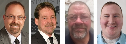 Candidates for the Huntington Common Council 3rd District are (from left) Eric Bruce, Tony Hiles, Jerry Meehan Jr. and Richard Mills.