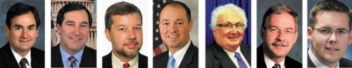 Huntington County voters have seven candidates to choose from for national and state offices on Nov. 6. They are (from left) Richard Mourdock, Joe Donnelly, Andrew Horning, Marlin Stutzman, Kevin Boyd, Dan Leonard and Michael Wallin.