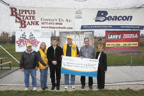 The Andrews youth baseball diamond recently received a new batting cage thanks to the completion of an Andrews Lions Club project. The project was a combined effort of many sponsors and donors.