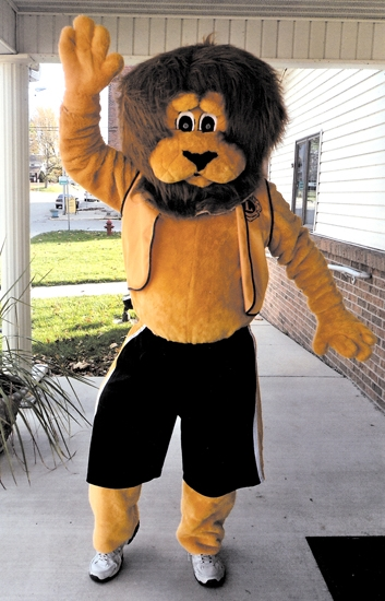 Leo the Lion (with Mike Okuly inside the costume) will help lead the costume parade during the Andrews Lions Club's Halloween Festival Party on Oct. 31.
