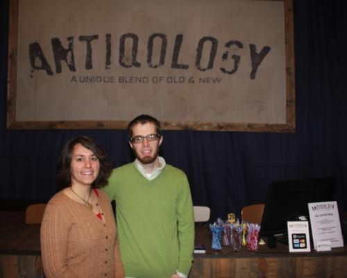 Rebecca and Adam Hanson are the owners of Antiqology, which recently relocated to downtown Huntington. The store offers a variety of items, running the gamut from vintage to shabby-chic.