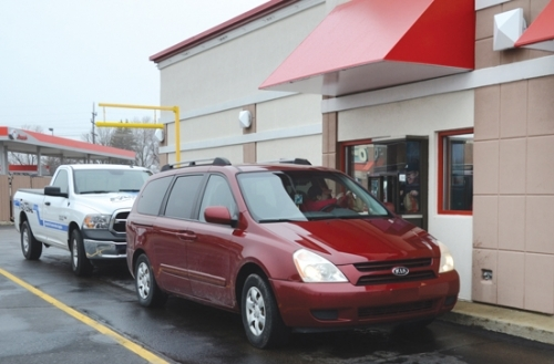 The drive-thru at Arby's in Huntington became the sole way for that business to meet the needs of its customers after Indiana Gov. Eric Holcomb ordered all restaurants in the state to close their dining rooms as a way to help cut down the possible spread of COVID-19.