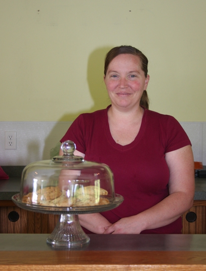 Melissa Paul stands behind the counter at her bakery's new location. Good Grains Bakery, formerly located in Station Corner, is now situated behind the Cottage Event Center at 966 Locust St., Roanoke.