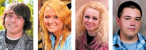 (From left) Terry Beal, Brittany Eckelbarger, Morgan Nightingale and Jay Theobald.