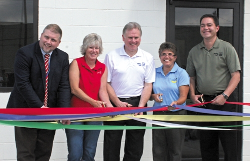 Bendix Commercial Vehicle Systems celebrates the opening of the facility's on-site health care center.