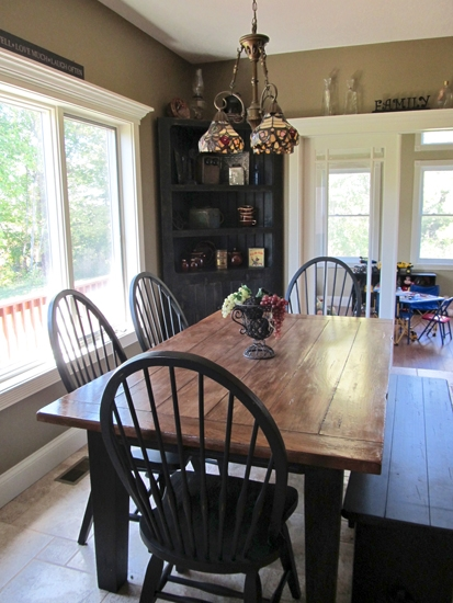 A custom designed corner hutch and dining table have a prominent role in the kitchen of the home of Bob and Abbey Bolen, one of five sites included in the Tri Kappa Housewalk on Oct. 14.