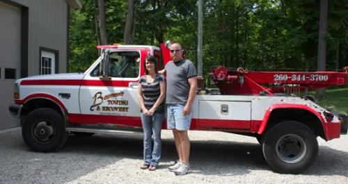 Bowman's Towing & Recovery is now owned by (from left) Jenny and Ryan Kingrey. The business offers roadside assistance as well as 24/7 towing services.
