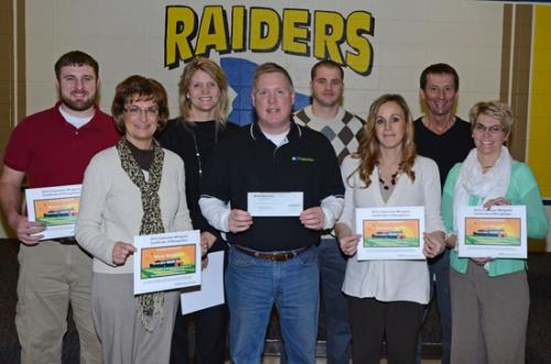 CF Industries, of Huntington, recently awarded $2,545 in the form of minigrants to several Riverview Middle School teachers for science programs.