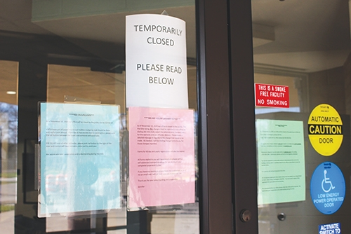 Procedure updates have been posted on the interior doors of the Huntington County Sheriff's Department. The department is currently closed to the public due to COVID-19 concerns.