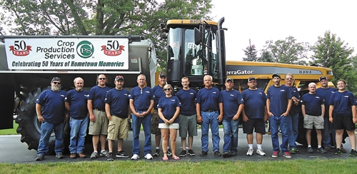 Crop Production Services held an open house this summer to celebrate the local plant being in business 50 years.