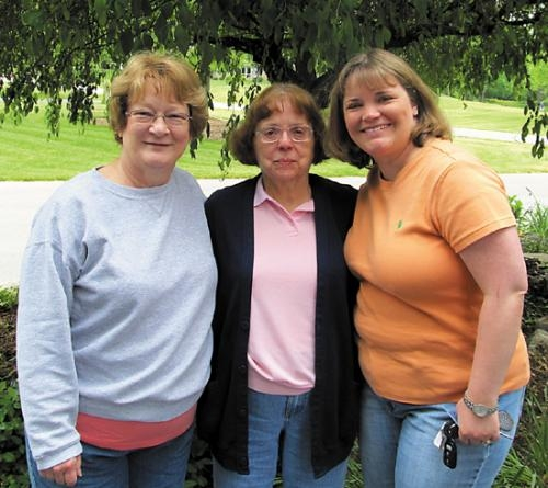 Paula Rowe, Rita Rorick and Sara Baker (from left), who have all served as caregivers for family members who eventually died of cancer, will host a survivor dinner on Saturday, June 8, as part of the Huntington County Relay for Life.