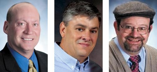 Running for Huntington County Commissioner on the Nov. 6 ballot are (from left) Larry Buzzard, Tom Wall and Kenneth Zuk.