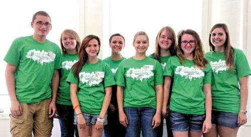 Huntington County Teen Court volunteers who attended the State Teen Court Conference in Goshen.